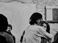 Hommage à Maria Jarema w Galerii Krzysztofory, Od prawej - Olga Ostrowska (Kora), Ryszard Terlecki (Pies), Anka Ptaszkowska, 30 X 1968, fot. Jacek Maria Stokłosa