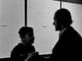 """Wernisaż wystawy Zbigniewa Gostomskiego '""""Ulisses"""" Jamesa Joyce'a', Maria Stangret i Zbigniew Gostomski, 1 XII 1970, fot. Jacek Maria Stokłosa"""