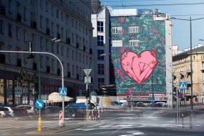 Mural Pawła Swanskiego - Love over hate