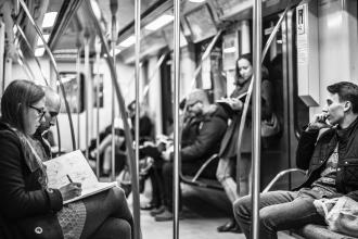 Warsaw Subway Sketch Group - by Richard HADE