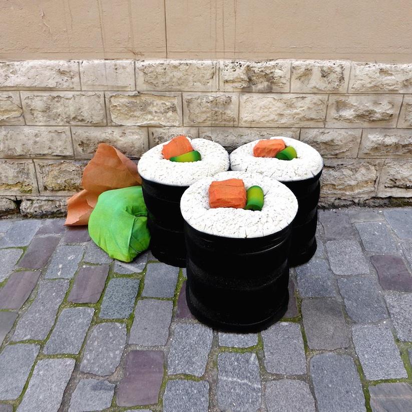 sushi, recykling