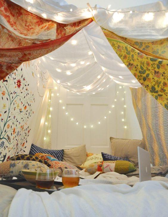 namiot łóżko