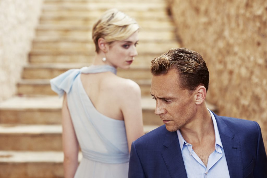 Tom Hiddleston as Jonathan Pine and Elizabeth Debicki as Jed Marshall - The Night Manager _ Season 1, Gallery - Photo Credit: Mitch Jenkins/The Ink Factory/AMC