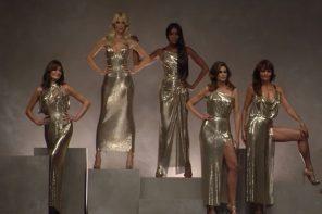 Supermodelki znów razem. Claudia Schiffer, Cindy Crawford i Naomi Campbell zamknęły pokaz Versace