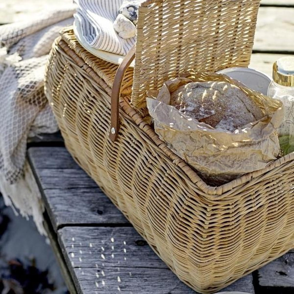 Rattanowy kosz piknikowy Bloomingville